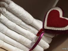 Handtücher, weiß