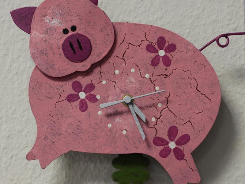 Motivuhr Schwein
